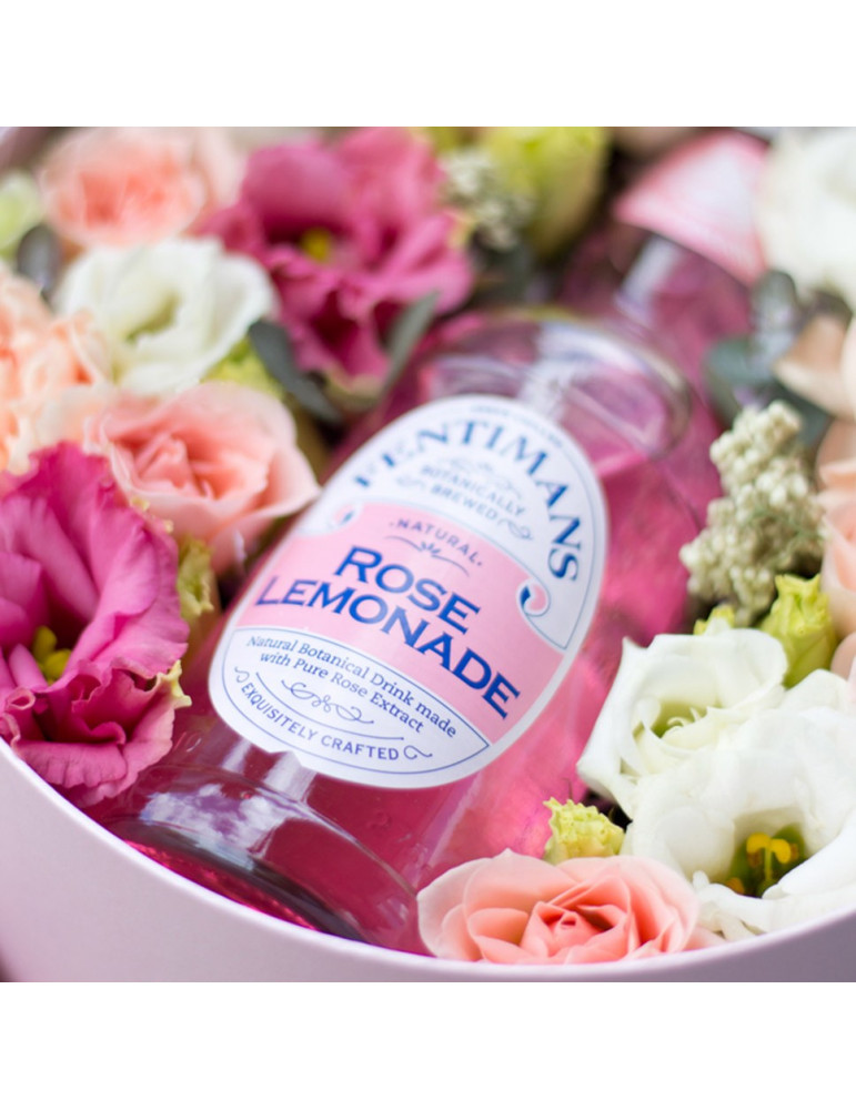 Flower box with lemonade