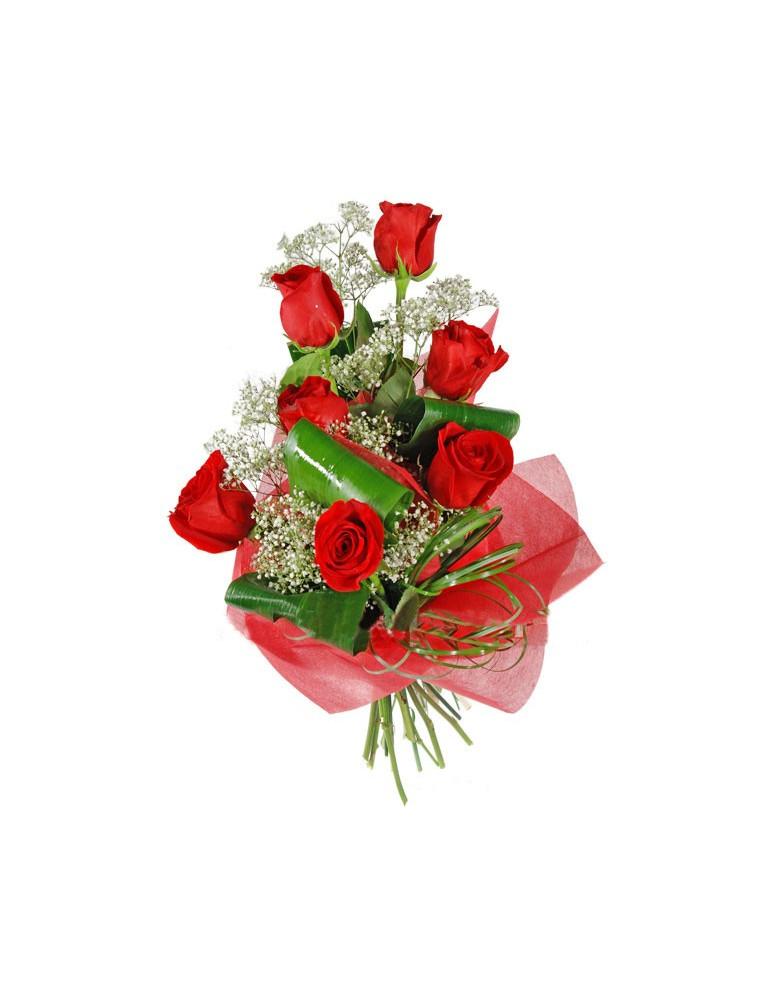 Sarkanu rožu pušķis
