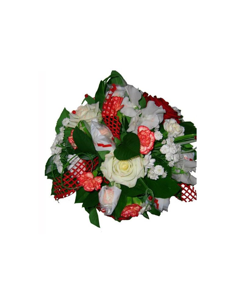Raffaello box with flowers