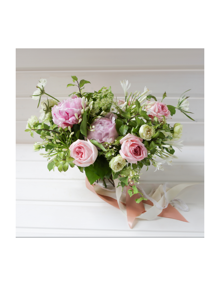 Pink & white Peonies bouquet