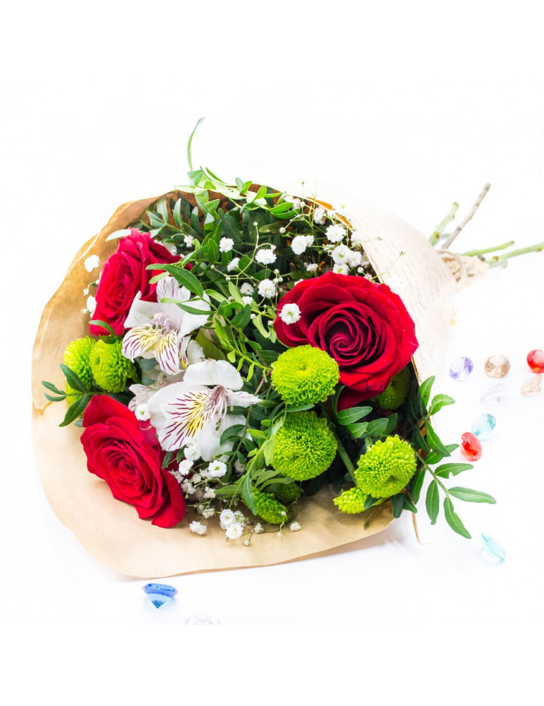 Roses and Chrysanthemum Bouquet
