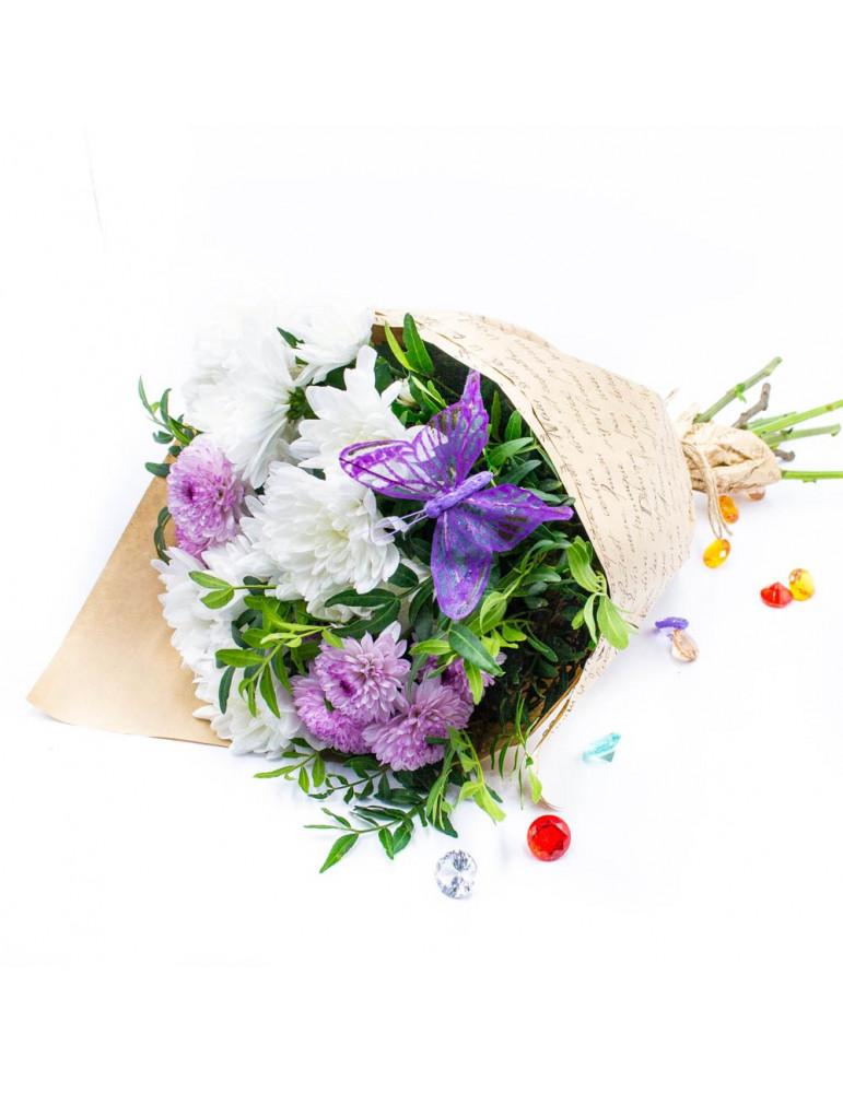 Букет с кустовой хризантемой