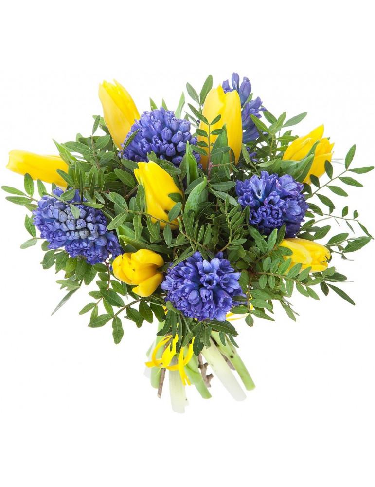 Букет из тюльпанов и гиацинт