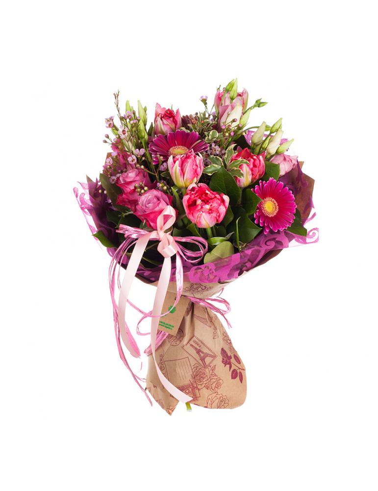 Rožu & Tulpju pušķis