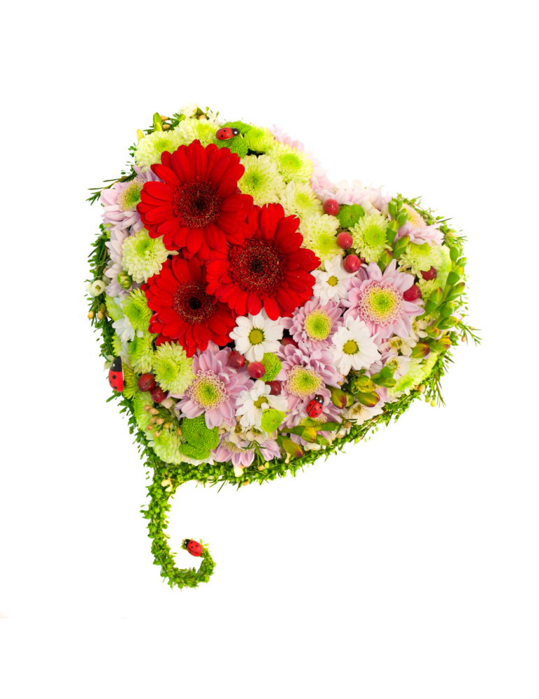 Flower Heart with Chrysanthemum