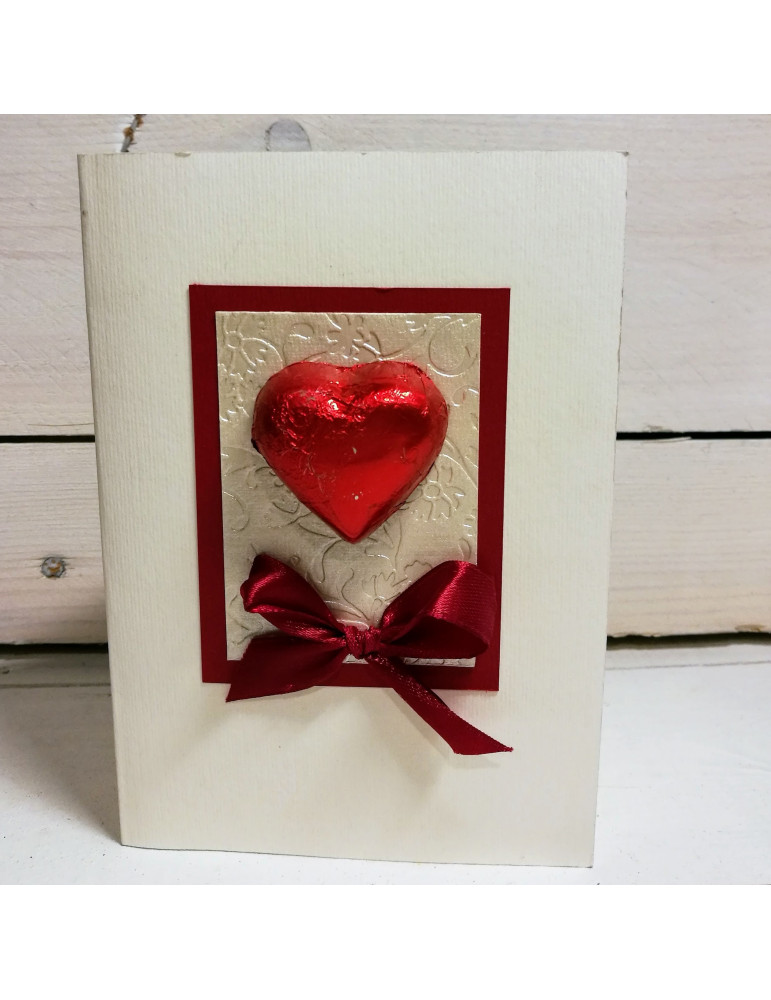 Greeting card with Chocolate