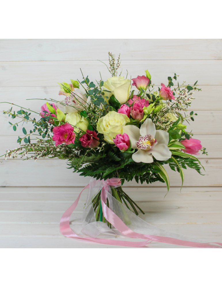 Rožu & orhideju pušķis
