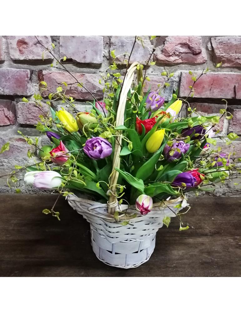Kорзина тюльпанов