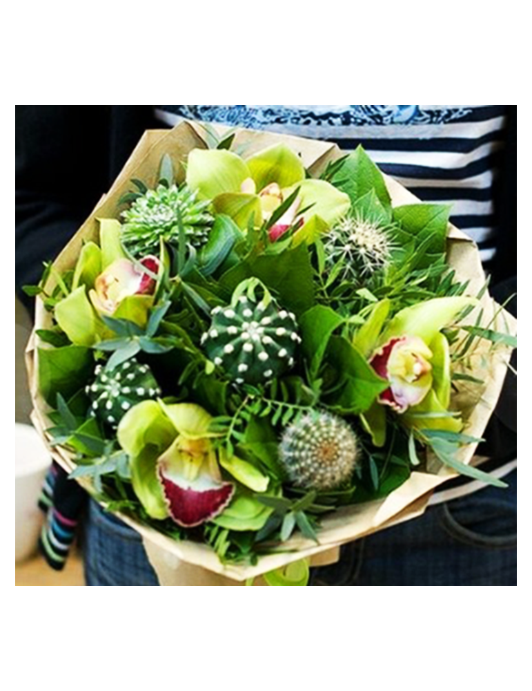 Orhideju & Kaktusu pušķis