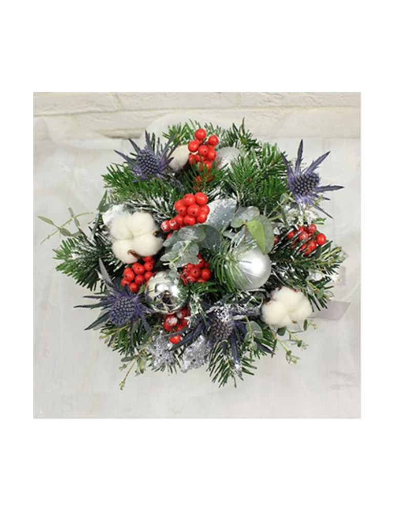 Christmas composition in a box